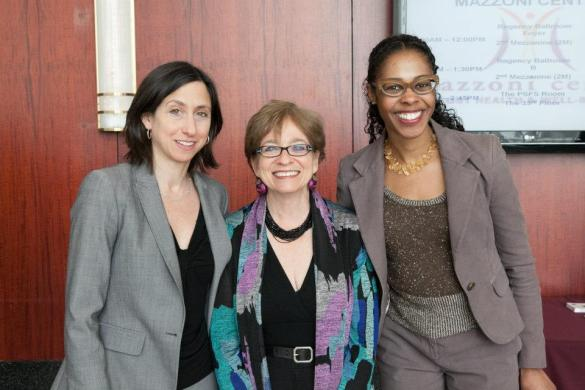 (l-r) PCHR's Rue Landau, EEOC Commissioner Chai R. Feldblum and PCHR's Reynelle Brown Staley swap perspectives during the annual Justice in Action Awards. Photo credit: Tara Beth Photography