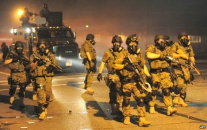 Scary scenes from Ferguson. Photo courtesy Agency France Presse.