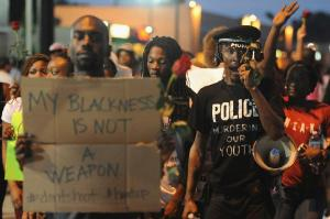 Scenes from Ferguson, MO. Photo courtesy: Michael B. Thomas, Agency France Presse.