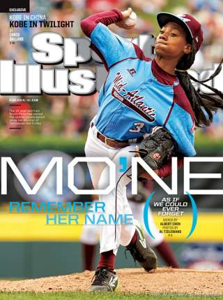 Mo'me Davis, star pitcher for the Taney Dragons, has inspired girls, boys, and adults alike with her talent and poise.