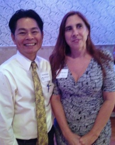 PCHR's Bunrath Math joins VWSSP Executive Director Alison Sprague in celebration of the 25th anniversary of this innovative civic nonprofit.