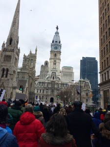 Thousands gathered to participate in the MLK Day of Action, Resistance and Empowerment march in  Center City