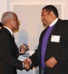 PCHR Commissioner Marshall Freeman extends congratulations and thanks to the work Philadelphians Organized to Witness, Empower and Rebuild does on behalf of residents. Led by Bishop Dwayne Royster, POWER was named the 2015 Clarence  Farmer Sr. Service Award recipient.