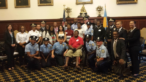 Police, policymakers and young Philadelphians assembled at City Hall gathered to speak frankly about ways to improve relations between communities and police as part of the Securing Our Future initiative.