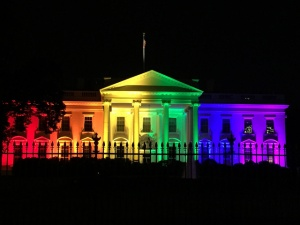 The White House lit up in celebration of marriage equality.