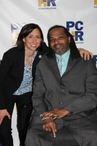 PCHR Executive Director Rue Landau hangs with Mayor's Commission on People with Disabilities Executive Director Charles W. Horton Jr.