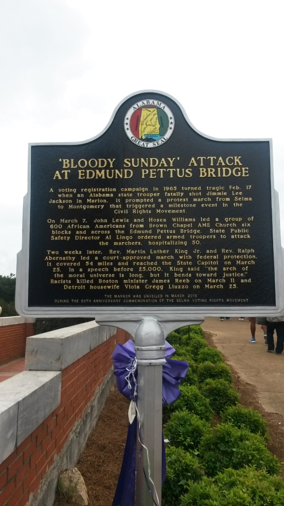 A day of American resistance and push for freedom: Bloody Sunday in Selma.