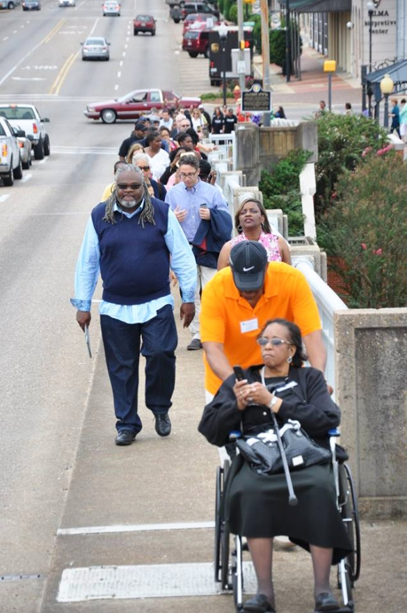 By any means necessary, these civil rights pilgrims paid homage to those who dared defy injustice 50 years earlier on the Edmund Pettus Bridge.