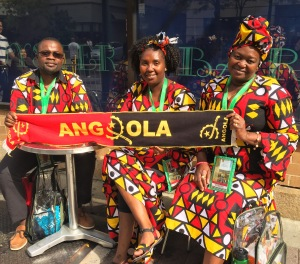 These visitors from Angola were among the many in town for the World Meeting of Families and words from Pope Francis.