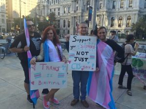 Activists and allies assembled in Center City to march in support of their trans family, friends and neighbors.