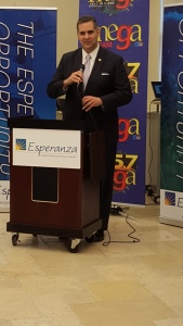 City Managing Director Rich Negrin spoke about the power of education, opportunity and the rewarding nature of public service during the 2nd Annual Hispanic Job Fair at Esperanza College, sponsored by La Mega radio.
